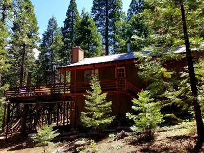 Photo for Big Trees Deck. Perfect High Sierra Gateway Cabin!