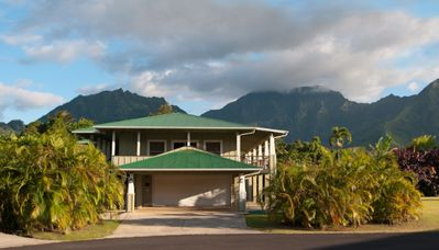 Photo for 2 minute Walk to Hanalei Bay sand gorgeous home on a culdesac