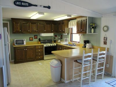 The Kitchen. Plenty of cabinets and counter top space