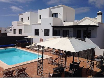 Photo for Beautiful 4 bed Villa with hot tub and private pool