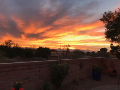 Photo for Private Home with Spectacular Sunset and Tucson City Views