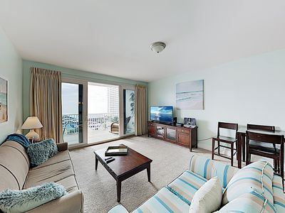 Photo for Gulf-View Laketown Wharf Condo w/ Resort Pools & Gym - Steps to the Beach!