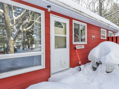 Photo for NEW LISTING! Charming cabin w/ lake views and trail access; family-friendly!