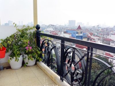 Photo for Modern studio. Rare huge (270°) view. Balcony, privacy & best location!