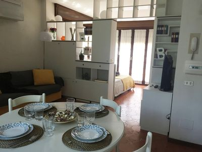Photo for Casa Saronni apartment in Bellagio with WiFi, integrated air conditioning, private terrace, shared …