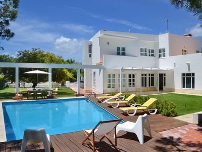 Photo for A modern, luxurious villa w/ pool and within a walking distance from the beach
