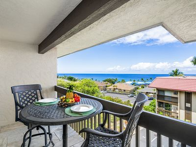 Photo for Kona Mansions#229 Top Floor, 2 story Unit w/Ocean views & Air Conditioning