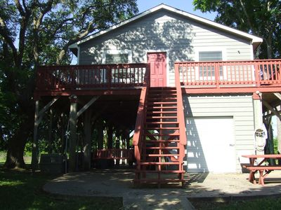 Photo for Fantastic fishing and family fun; waterfront property located on Caney Creek