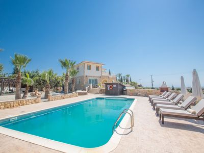Photo for Amazing Hilltop Bespoke Villa - Private Pool, Gym & Table Tennis, Free Wifi ++++