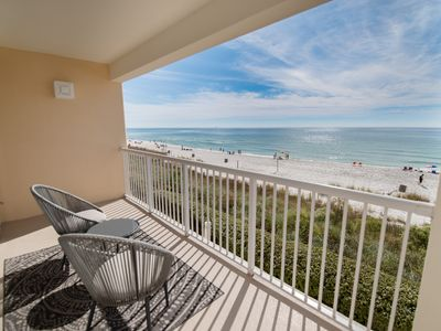 Photo for BEACH FRONT-2ND FLOOR LOCATION! Within steps of resort amenities!