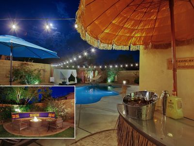 Photo for Backyard paradise with real sand, cabana, games and a hammock!!!