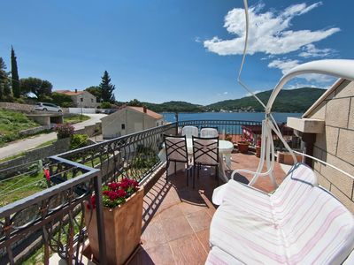 Photo for Penthouse at beach front villa near Dubrovnik