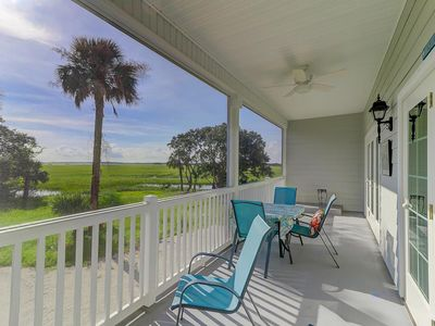 River & Marsh Views with Community Pool, Walk to Downtown Folly