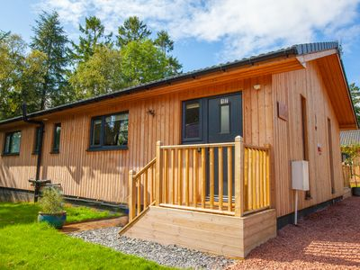 Photo for 3 Bedroom 2 bathroom  luxurious lodge with hot tub stunning Northumberland