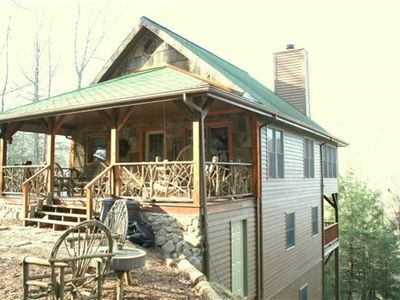 Photo for Log Cabin, Hot tub, Foosball, Convenient to Grandfather Mountain, Boone, Skiing and Snow Tubing