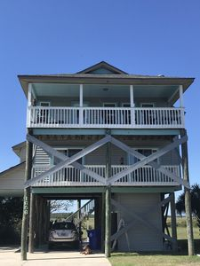 Photo for Lovely Folly Beach home on marsh, brilliant sunsets, ocean view, 2nd row