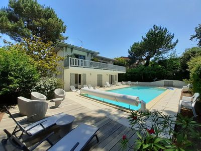 Photo for Pyla-Sur-Mer Pretty quiet Villa with Pool and 5 bedrooms - for 10 people