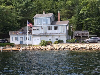 Photo for Direct lakefront home  on Thompson lake, Maine  PET FRIENDLY! Ski Boat option