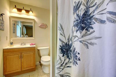 Master bath with standup shower