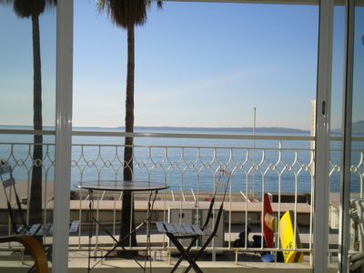 Photo for Beautiful apartment with the beach just in front