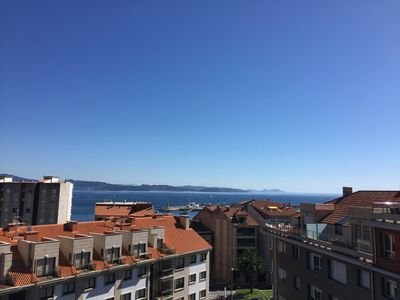 Photo for Penthouse in Sanxenxo with sea views and huge terrace
