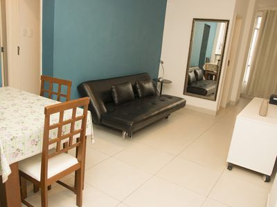 Photo for Beautiful 3 bedroom 1 Copacabana Beach block and metro