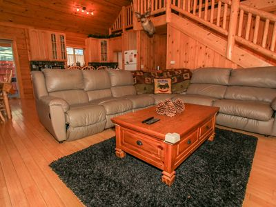 Photo for ~Ridenour Retreat~Centrally Located Modern Log Home~Game tables~Jetted Spa Tub~