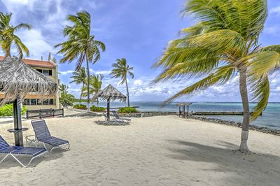 Welcome to low-key island living and relaxation! You and your travel companions will feel right at home in this bright, charming 2-bedroom, 2-bathroom condo, steps from the beach!