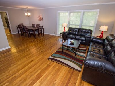 Photo for Large Home w/2Kitchens,Foosball&BBQ -Only 11 Min to Airport & Close to Downtown!
