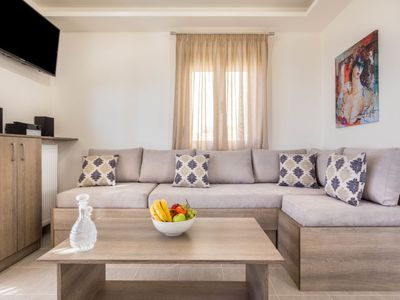 Photo for One bedroom Villa, sleeps 4 in Tríopetra with Pool, Air Con and WiFi