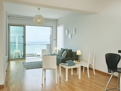 Photo for Finikoudes Luxury Beach Front Sea View Apartment