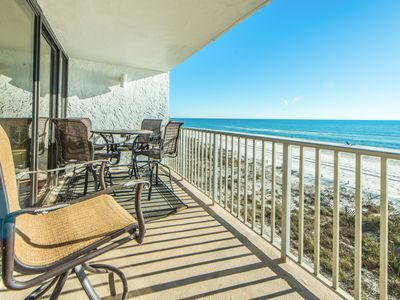 Photo for ☀GulfFront Sandy Kisses☀Windward at Edgewater-1BR/2BA-Aug 15 to 18 $686 Total!