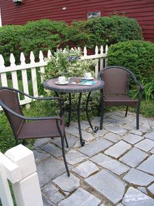 Patio for breakfast or drinks.