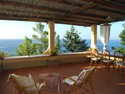 Photo for Villa overlooking the sea with private access