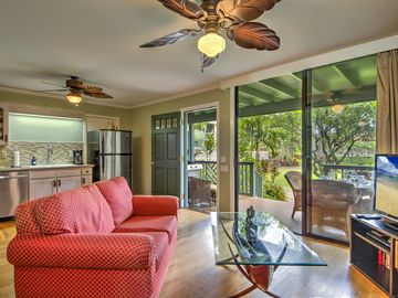 Recently Updated Air Conditioned Bungalow Set In Lush Gardens Steps To Poipu Bch