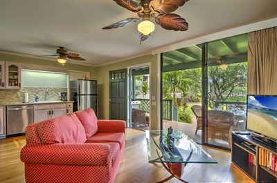 Indoor/outdoor living with open concept and  covered lanai