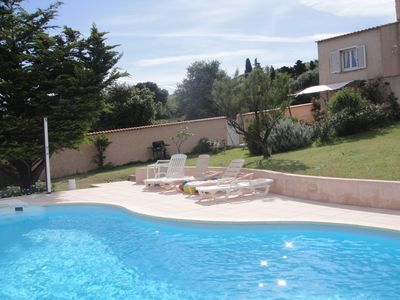 Photo for Independent apartment in villa with shared pool