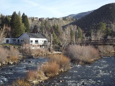 The view downstream of the house on the winter.