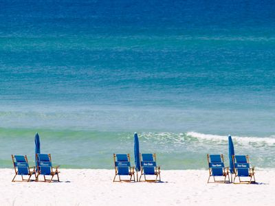 Photo for Gulf Front Not Side View with the Comfort of a Rocker Recliner and Beach Service