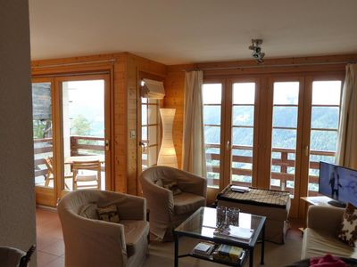 Photo for Outside : flat on the ground floor of a chalet, for 4 persons, balcony/terrace -Inside : 65 sqm, ent