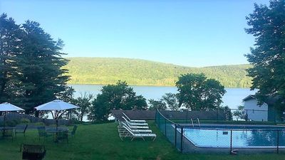 Lake view from pool area