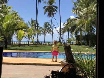 Photo for beach house in front of guarajuba beach, best location, 5 bedrooms