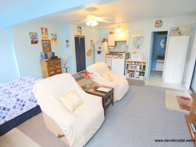 Photo for Large Deluxe Studio, walk to beaches, full kitchen and bath, very spacious clean