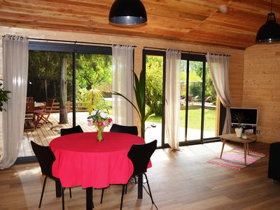 Photo for SUPERB STUDIO 100% ECOLOGICAL TERRACE IN THE MIDDLE OF TREES AND PATIO