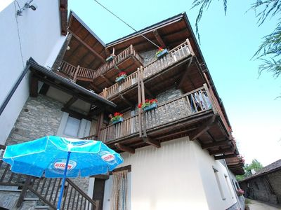 Photo for 1BR Apartment Vacation Rental in Saint-nicolas, Valle d'Aosta