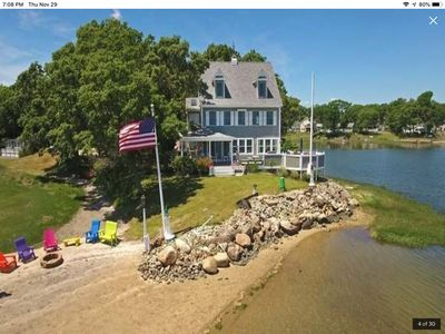 Photo for Beautiful Waterfront Property with Private Beach and Panoramic Views.