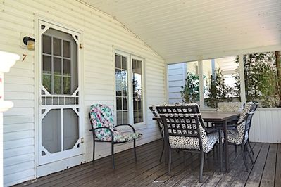 Outdoor furniture with covered patio