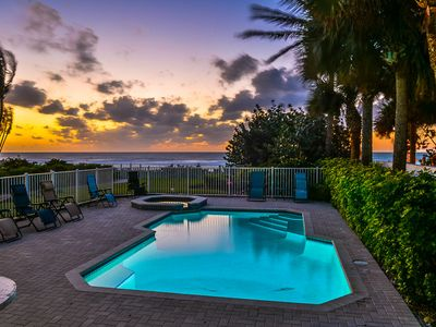Photo for Luxury Beachfront with Pool Beach Home - Exclusive Aqua Escape