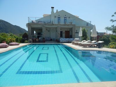 View for villa from pool