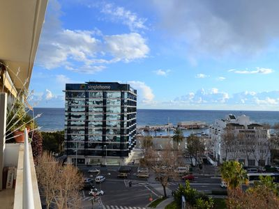 Photo for Apartment in the center of Marbella a few meters from the beach and overlooking the sea